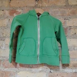 Crewcuts Green Zipper Hoodie Sweatshirt 2T